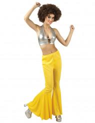 Gele disco broek dames