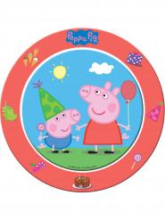 8 kartonnen Peppa Pig™ borden 23 cm