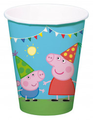 8 kartonnen Peppa Pig™ bekers 250 ml