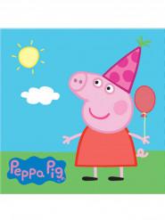 20 papieren Peppa Pig™ servetten 33 x 33 cm