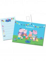 8 Peppa Pig™ uitnodigingen