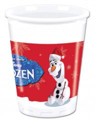 8 plastic Olaf Kerstmis™ bekers
