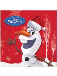 20 papieren Olaf kerstmis™ servetten