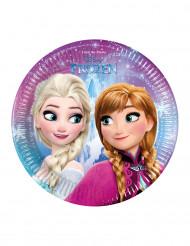 8 kleine kartonnen Frozen™ borden 19,5 cm