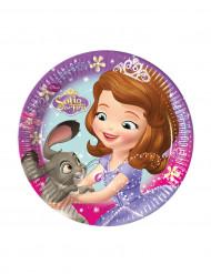 8 kartonnen Sofia het prinsesje™ borden 19,5 cm