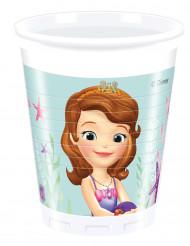 8 plastic Sofia het prinsesje™ bekers 200 ml