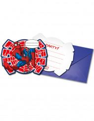6 Ultimate Spiderman Power™ uitnodigingen