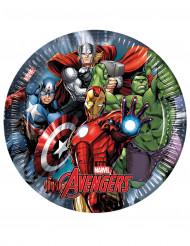 8 kartonnen Avengers Power™ borden 23 cm