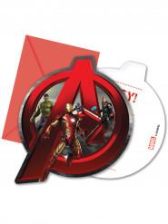 6 Avengers Age of Ultron™ uitnodigingen met enveloppen