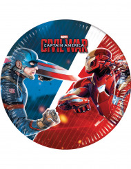 8 kleine kartonnen Captain America Civil War™ borden