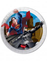 8 kartonnen Batman vs Superman™ borden 19,5 cm