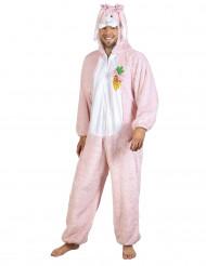 Luxe roze konijnenkostuum voor volwassenen