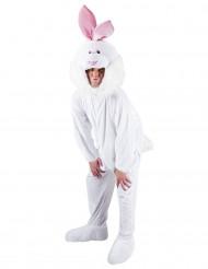 Wit mascotte konijnenkostuum voor volwassenen