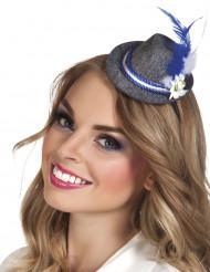 Mini Beierse hoed met veer voor volwassenen