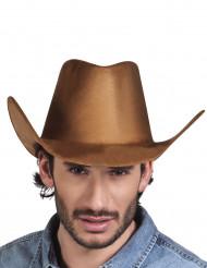 Bruine cowboy western hoed voor volwassenen