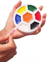 7 voetbal schmink kleurenpalet