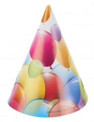 6 ballonnen feesthoeden
