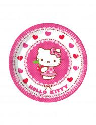 8 kleine kartonnen bordjes Hello Kitty™