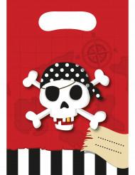 6 piraten schatkaart cadeauzakken