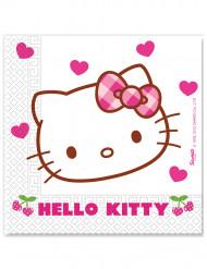 20 papieren Hello Kitty™ servetten