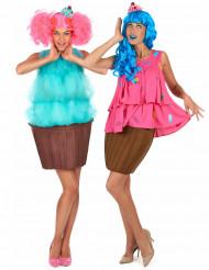 Fantasie cupcake koppelkostuum voor vrouwen