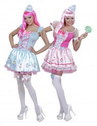 Cupcake koppelkostuum voor vrouwen
