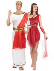 Rood Romeins koppelkostuum voor volwassenen
