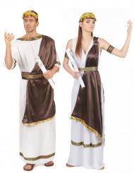 Bruin Romeins koppelkostuum voor volwassenen