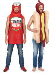 Hotdog en ketchup koppelkostuum
