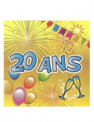 20 papieren 20 jaar servetten