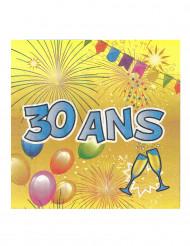 20 papieren 30 jaar verjaardag servetten