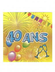20 servetten 40 jaar