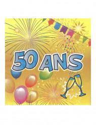 20 papieren servetten 50 ans