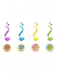 4 spiraaldecoraties 20 jaar
