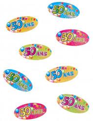 50 jaar verjaardag confetti