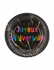 6 kartonnen bordjes Joyeux Anniversaire
