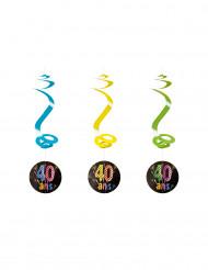 4 vuurwerk 40 jaar spiraaldecoraties