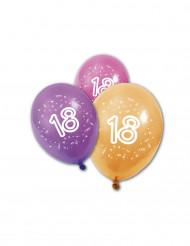 8 verjaardagsballonnen 18 jaar