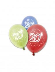 8 verjaardagsballonnen 20 jaar