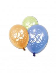 8 verjaardagsballonnen 50 jaar