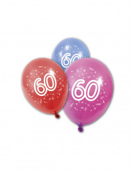 8 verjaardagsballonnen 60 jaar