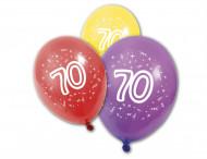 8 latex verjaardagsballonnen 70 jaar