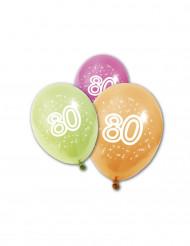 8 verjaardagsballonnen 80 jaar