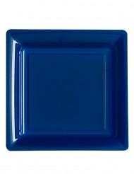 12 donkerblauwe vierkante borden