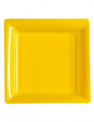 12 gele vierkante borden