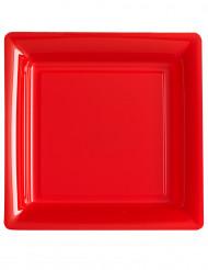 12 vierkante rode borden