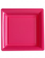 12 vierkante fuchsia borden