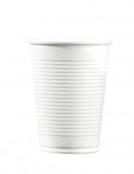 100 witte plastic bekers