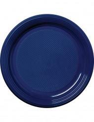 30 plastic donkerblauwe borden