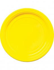 30 gele wegwerp borden 22 cm